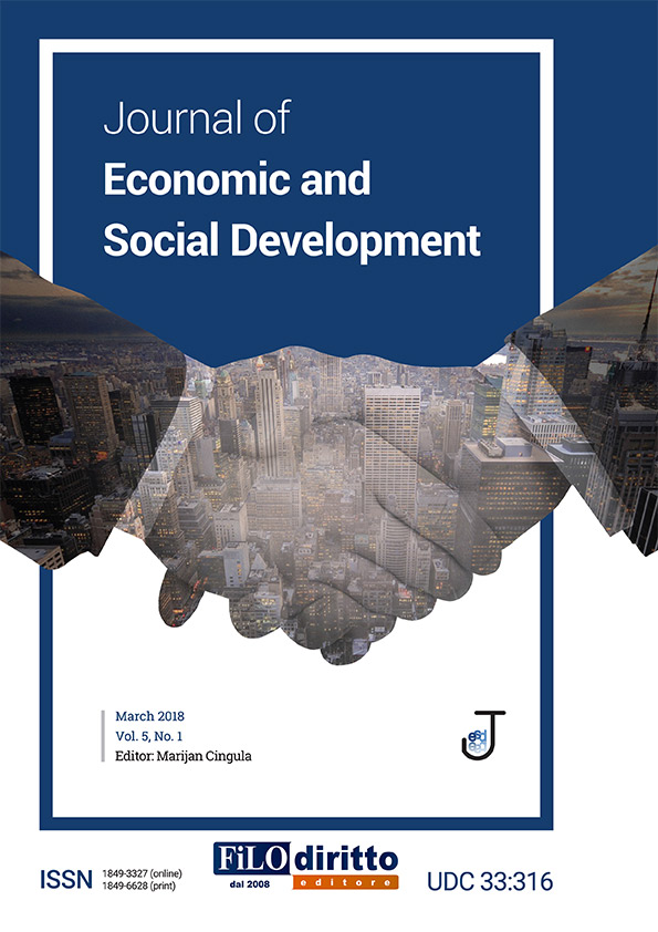 Journal of Economic and Social Development, March 2018, Vol. 5, No. 1